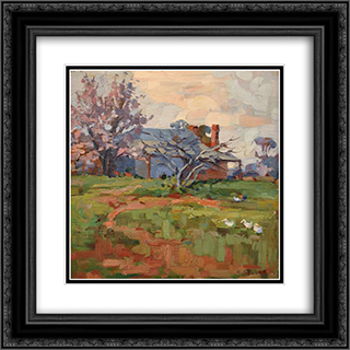 Springtime 20x20 Black or Gold Ornate Framed and Double Matted Art Print by Horace Trenerry