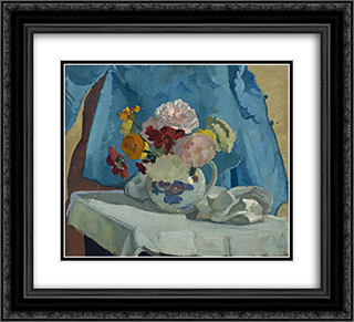 Still Life 22x20 Black or Gold Ornate Framed and Double Matted Art Print by Horace Trenerry