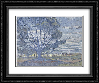 Willunga landscape 24x20 Black or Gold Ornate Framed and Double Matted Art Print by Horace Trenerry