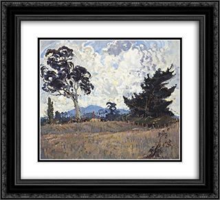 Woodside Pastoral 22x20 Black or Gold Ornate Framed and Double Matted Art Print by Horace Trenerry