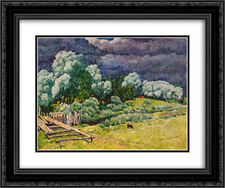 After the Storm 24x20 Black or Gold Ornate Framed and Double Matted Art Print by Ilya Mashkov