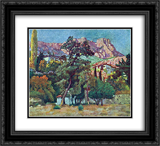 Alupka. Resort Park 22x20 Black or Gold Ornate Framed and Double Matted Art Print by Ilya Mashkov