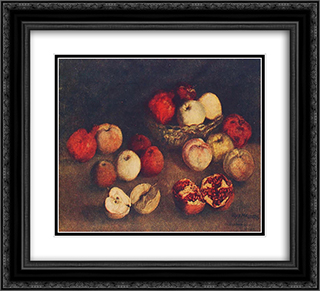 Apples and pomegranates 22x20 Black or Gold Ornate Framed and Double Matted Art Print by Ilya Mashkov