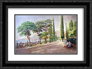 Artek. September morning in Artek 24x18 Black or Gold Ornate Framed and Double Matted Art Print by Ilya Mashkov