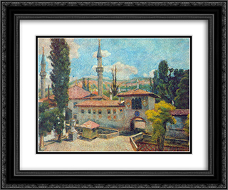 Bakhchisarai. Khan's Palace 24x20 Black or Gold Ornate Framed and Double Matted Art Print by Ilya Mashkov