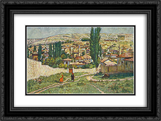 Bakhchisaray 24x18 Black or Gold Ornate Framed and Double Matted Art Print by Ilya Mashkov