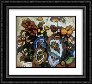 Begonias 22x20 Black or Gold Ornate Framed and Double Matted Art Print by Ilya Mashkov