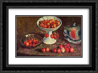 Cherry 24x18 Black or Gold Ornate Framed and Double Matted Art Print by Ilya Mashkov