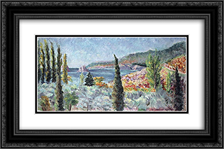 Coast of the Crimea 24x16 Black or Gold Ornate Framed and Double Matted Art Print by Ilya Mashkov
