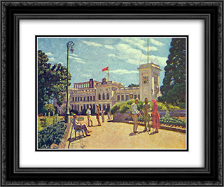 Crimea. Livadia 24x20 Black or Gold Ornate Framed and Double Matted Art Print by Ilya Mashkov