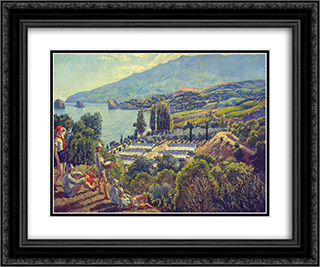 Crimea. Pioneer camp-resort 24x20 Black or Gold Ornate Framed and Double Matted Art Print by Ilya Mashkov