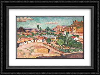Crimean landscape. Sudak 24x18 Black or Gold Ornate Framed and Double Matted Art Print by Ilya Mashkov