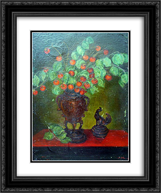 Flowers 20x24 Black or Gold Ornate Framed and Double Matted Art Print by Ilya Mashkov