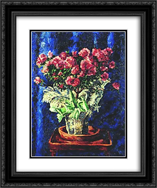 Flowers in a Vase 20x24 Black or Gold Ornate Framed and Double Matted Art Print by Ilya Mashkov