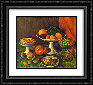 Fruits and Berries 22x20 Black or Gold Ornate Framed and Double Matted Art Print by Ilya Mashkov