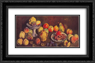 Fruits from the agricultural exhibition 24x16 Black or Gold Ornate Framed and Double Matted Art Print by Ilya Mashkov