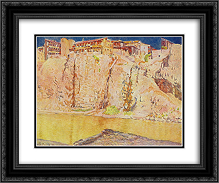 Georgia. Tbilisi. The Kura River 24x20 Black or Gold Ornate Framed and Double Matted Art Print by Ilya Mashkov