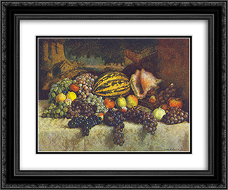 Grapes 24x20 Black or Gold Ornate Framed and Double Matted Art Print by Ilya Mashkov