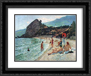 Gurzuf 24x20 Black or Gold Ornate Framed and Double Matted Art Print by Ilya Mashkov