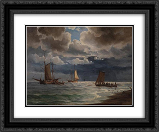 Seascape 24x20 Black or Gold Ornate Framed and Double Matted Art Print by Ioannis Altamouras