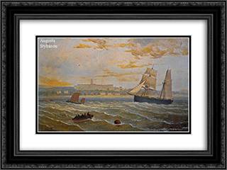 Skagerrak 24x18 Black or Gold Ornate Framed and Double Matted Art Print by Ioannis Altamouras