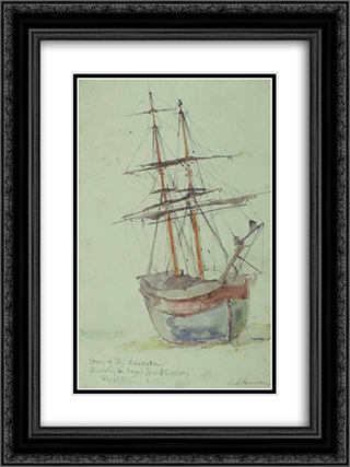 Study on the ship Esmeralda 18x24 Black or Gold Ornate Framed and Double Matted Art Print by Ioannis Altamouras