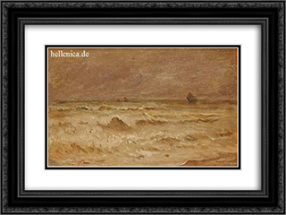 Waves 24x18 Black or Gold Ornate Framed and Double Matted Art Print by Ioannis Altamouras