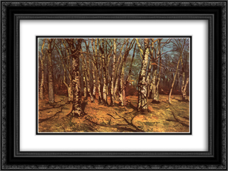 Beech Forest 24x18 Black or Gold Ornate Framed and Double Matted Art Print by Ion Andreescu