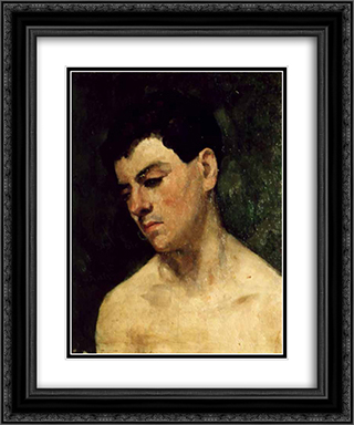 Head of a young man 20x24 Black or Gold Ornate Framed and Double Matted Art Print by Ion Andreescu