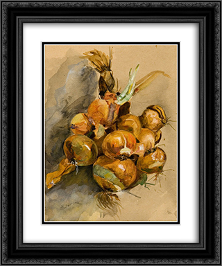 Onions 20x24 Black or Gold Ornate Framed and Double Matted Art Print by Ion Andreescu