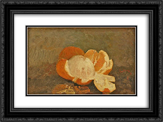 Peeled Orange 24x18 Black or Gold Ornate Framed and Double Matted Art Print by Ion Andreescu