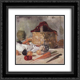 Still Life 20x20 Black or Gold Ornate Framed and Double Matted Art Print by Ion Andreescu