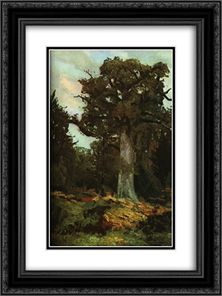 The Oak 18x24 Black or Gold Ornate Framed and Double Matted Art Print by Ion Andreescu