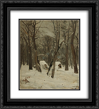 The Winter 20x22 Black or Gold Ornate Framed and Double Matted Art Print by Ion Andreescu