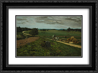 Untitled (View of a Field) 24x18 Black or Gold Ornate Framed and Double Matted Art Print by Ion Andreescu