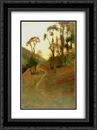 Landscape 18x24 Black or Gold Ornate Framed and Double Matted Art Print by Ipolit Strambu