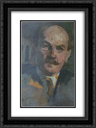 Self-Portrait 18x24 Black or Gold Ornate Framed and Double Matted Art Print by Ipolit Strambu