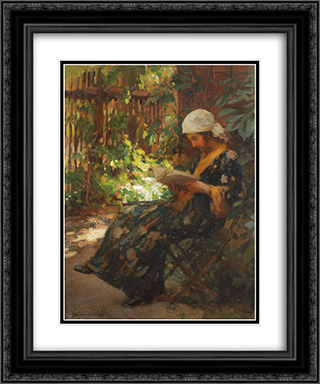 Summer Afternoon 20x24 Black or Gold Ornate Framed and Double Matted Art Print by Ipolit Strambu