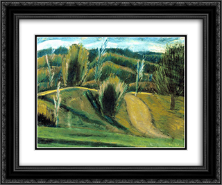 Autumn in Bakony 24x20 Black or Gold Ornate Framed and Double Matted Art Print by Istvan Nagy