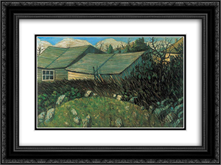 Backyard 24x18 Black or Gold Ornate Framed and Double Matted Art Print by Istvan Nagy