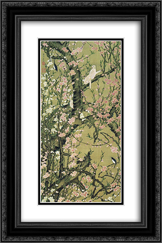Touka shoukinzu 16x24 Black or Gold Ornate Framed and Double Matted Art Print by Ito Jakuchu