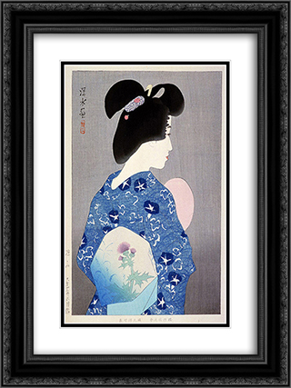 Getting Cool Air 18x24 Black or Gold Ornate Framed and Double Matted Art Print by Ito Shinsui