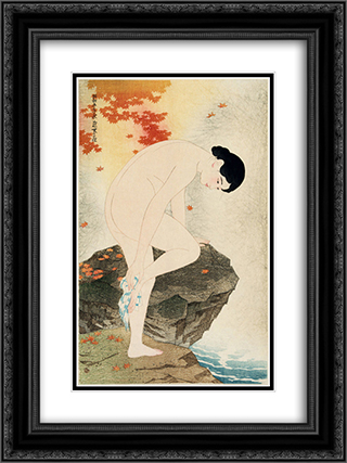 The Fragrance of a Bath 18x24 Black or Gold Ornate Framed and Double Matted Art Print by Ito Shinsui