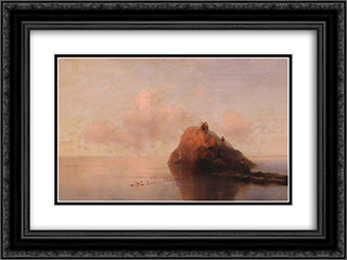 After the shipwreck 24x18 Black or Gold Ornate Framed and Double Matted Art Print by Ivan Aivazovsky