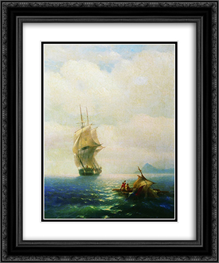 After the storm 20x24 Black or Gold Ornate Framed and Double Matted Art Print by Ivan Aivazovsky