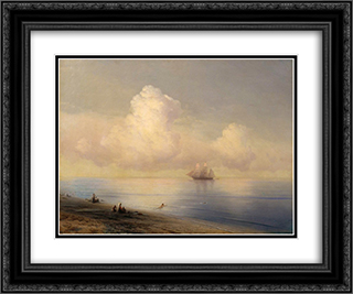 Calm Sea 24x20 Black or Gold Ornate Framed and Double Matted Art Print by Ivan Aivazovsky