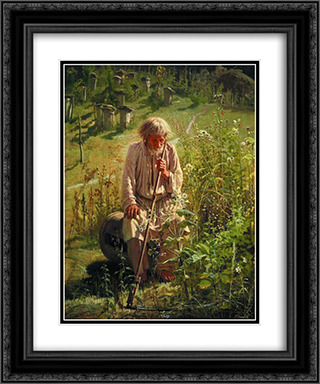 Beekeeper 20x24 Black or Gold Ornate Framed and Double Matted Art Print by Ivan Kramskoy