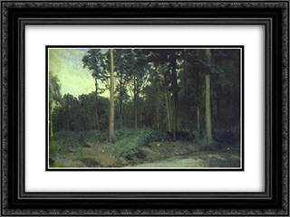 Bois de Boulogne near Paris 24x18 Black or Gold Ornate Framed and Double Matted Art Print by Ivan Kramskoy