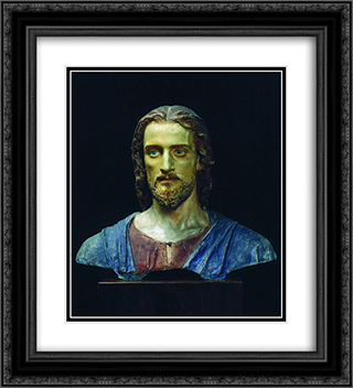 Christ 20x22 Black or Gold Ornate Framed and Double Matted Art Print by Ivan Kramskoy