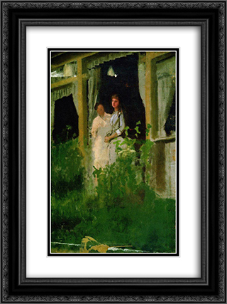 Convalescent 18x24 Black or Gold Ornate Framed and Double Matted Art Print by Ivan Kramskoy